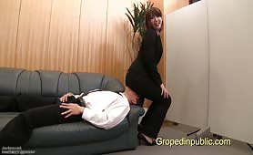 Kinky secretary sit on her director face