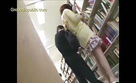 Young schoolgirl groped in library