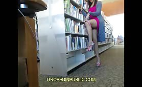 Groped and exhibition in the library