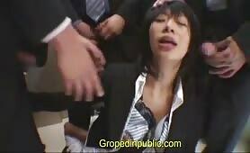 Gang bang in the elevator