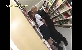 Schoolgirl groped in library