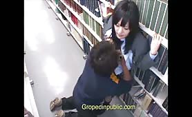 Groped in the library